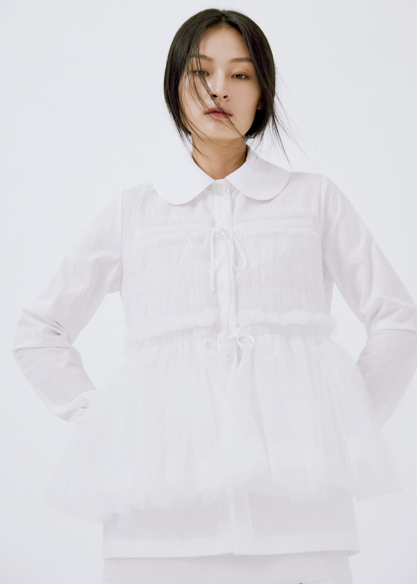 RUFFLE DETAIL SHIRTS